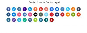 Social Buttons In Bootstrap 4
