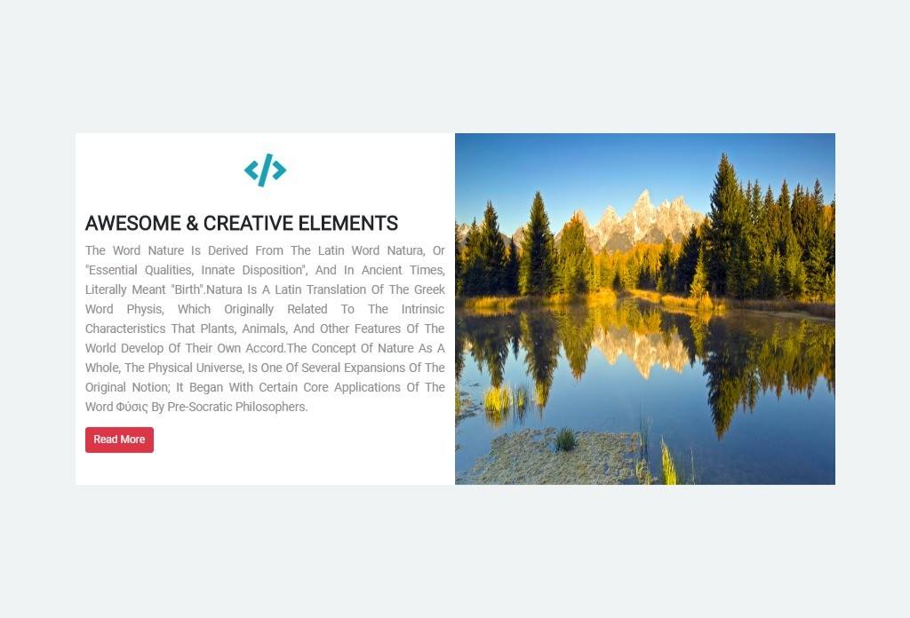 Modern Creative Element In Bootstrap 4