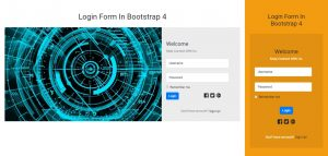 Welcome Login Form In Bootstrap 4