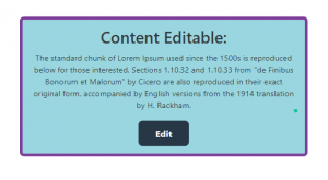 Basic Content Editable Using Javascript and Bootstrap