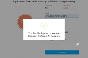 Php Contact Form With Javascript Validation Using Bootstrap