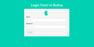 Login Form in Bulma