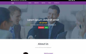 Simple Business Landing Page In Bootstrap