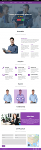 Simple Business Landing Page In Bootstrap 4