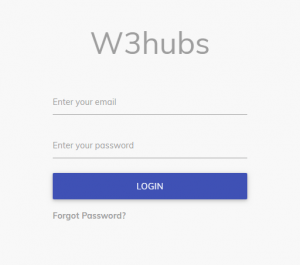 Simple Login Form In Materializecss