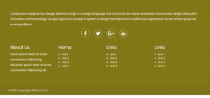 Responsive Footer In Materializecss