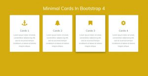 Minimal Cards In Bootstrap 4