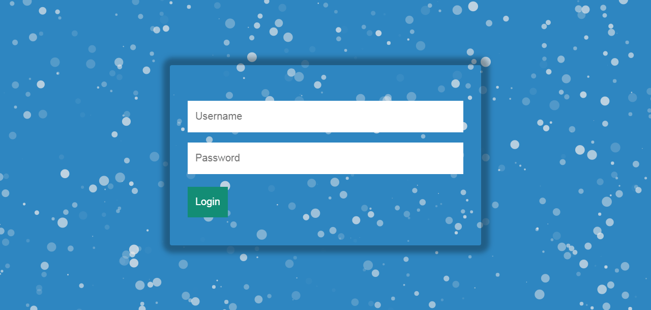 Login Form In Particles.js With Background Snow Effect
