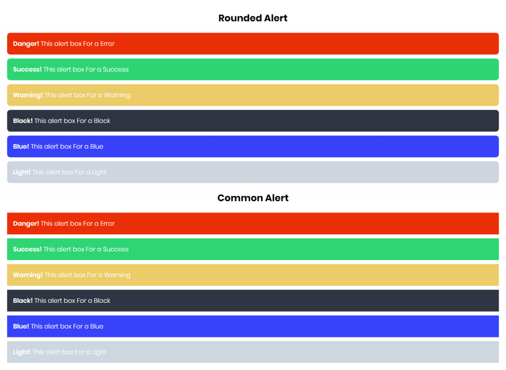 Alerts Message In CSS3