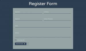 Registration Form In Materialize CSS