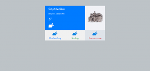 Simple Weather Card In Bootstrap 4