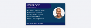 Business Card Using Bootstrap 4