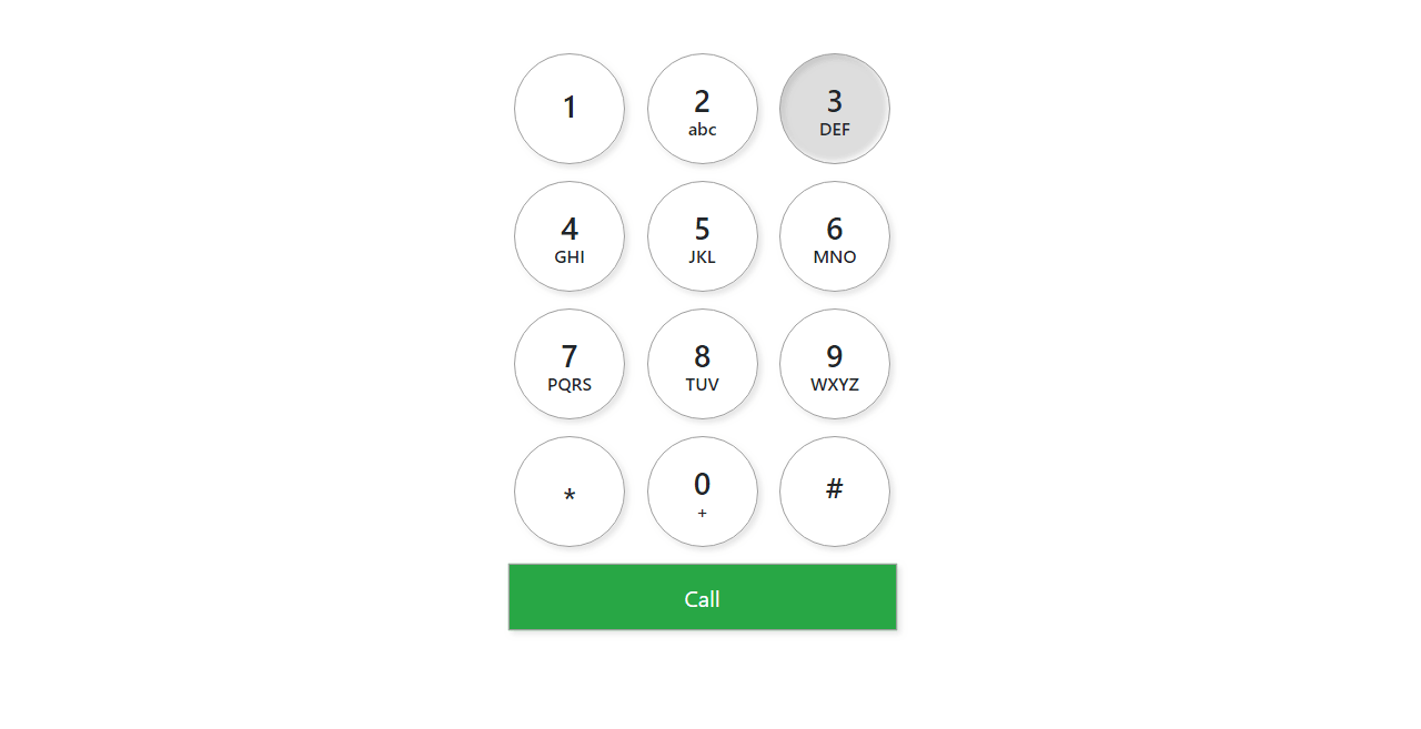 Neomorphism Iphone Number Pad In Bootstrap 4