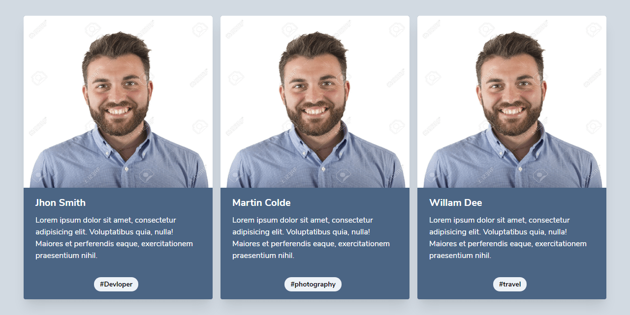 Team Section Using Tailwind CSS