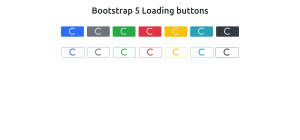 Bootstrap 5 Loading Buttons