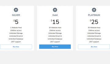 Tailwind CSS Responsive Pricing Table