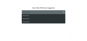 Auto Suggestion Search Bar With Icon In Angular Material