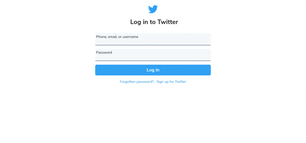 Twitter Login Page In Bootstrap 5