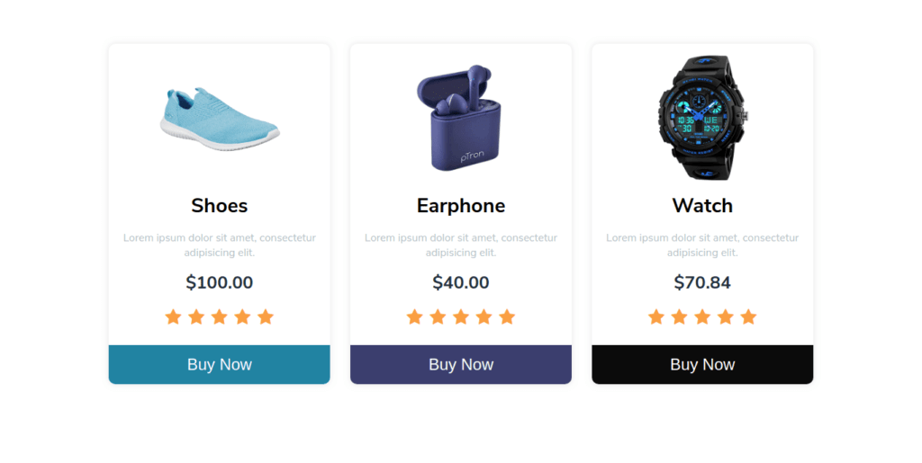 Responsive Ecommerce Product Cards In HTML/CSS